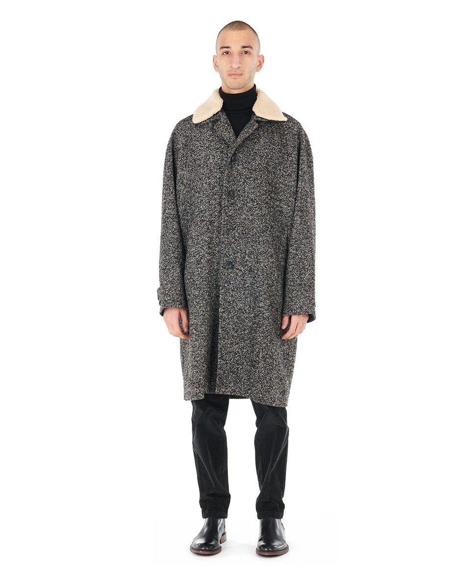 Soft tweed coat