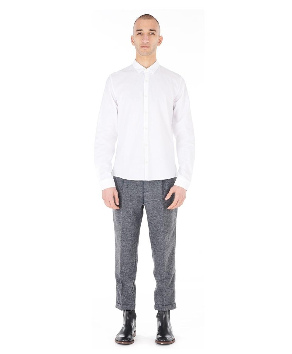 Plain  Flannel Shirt