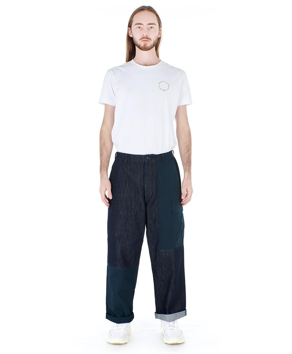 Denim Patch Pants