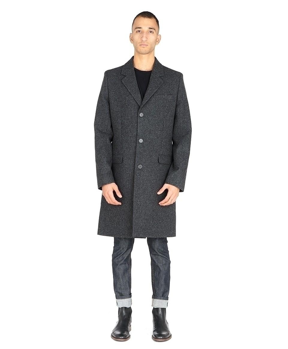 Woolen straight coat